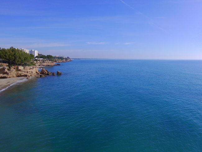 Drone  Miami Platja-Tarragona-Spain Beauty In Nature Blue Day Drone Photography Horizon Over Water Nature No People Outdoors Scenics Sea Sky Tranquil Scene Tranquility Turistic Places Water
