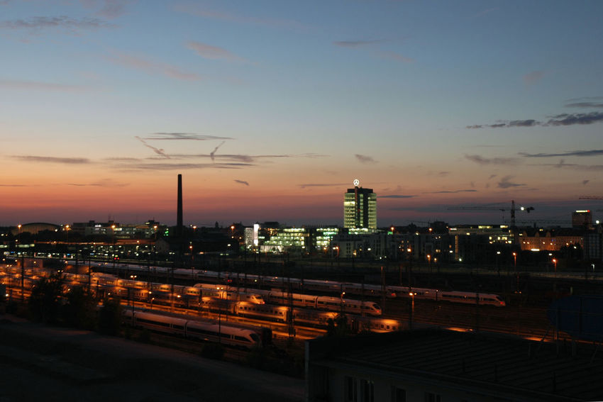 An old photo taken in 2005 during a trip to Germany with my Nikon D70. It reminds me of the Pink Floyd Animals album art. EyeEmNewHere Munich, Germany City City Life Cityscape Europe Night Sunset Train Station