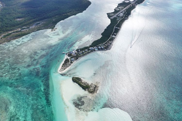 Deep Water Cay Bahamas Aerial View