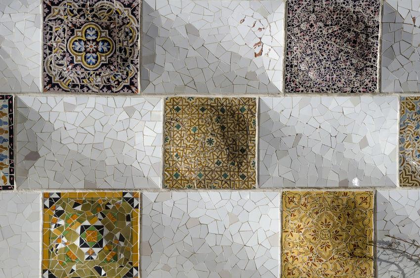 Gaudí colors Art Barcelona Gaudi Outdoors Pattern Shape Trencadis Wall
