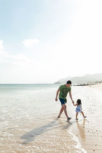 Father & daughter Beach Child Sand Calm Fatherhood Moments Father And Daughter Happiness Memories Real People Destination Family Fujairah UAE Finding New Frontiers