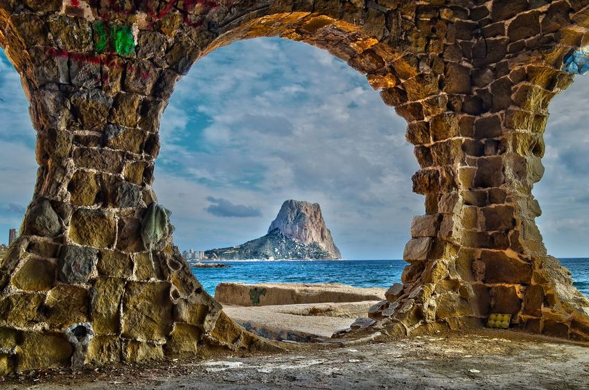 Cala Manzanera Calpe Alicante España Famous Place History Nature Outdoors Peñon Ifach Rock - Object Rock Formation Scenics Sea