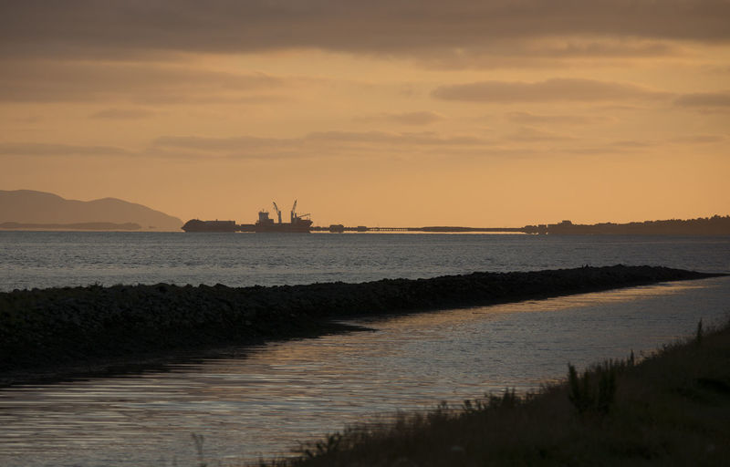 Beauty In Nature Cloud - Sky Fenit Harbour Nature No People Outdoors Scenics Sea Sky Sunset Tranquil Scene Tranquility Water