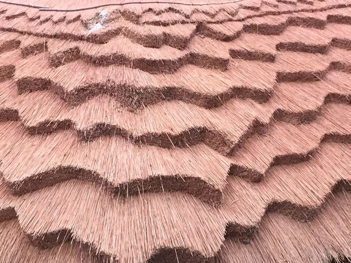 thatched roof Backgrounds Pattern Full Frame Textured  Brown Pink Color No People