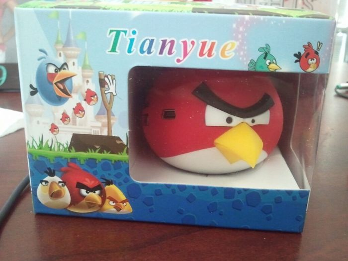 Boss came back from China with Angry Bird music players for everyone. About to make it really angry with my music.