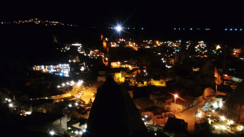 Night City Illuminated Outdoors Sky Nature Turkey Türkiye Kapadokya Beauty In Nature NevşehirKapadokya Turkey ♡ Blacksky Peribacaları Capadokia,Turkey Capadoccia Capadokya Capadocia