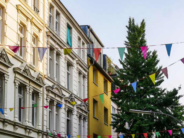 URBANANA #urbanana: The Urban Playground Körnerstraße Architecture Available Light Building Building Exterior Built Structure Celebration Christmas christmas tree City Day Decoration Low Angle View Multi Colored Nature No People Outdoors Plant Sky Streetphotography Tree Window
