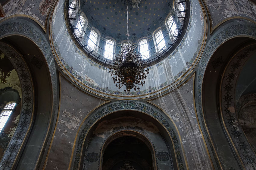 Saint Sophia Cathedral in Harbin, China. Architecture Built Structure China Church Harbin Indoors  Interior Low Angle View No People Place Of Worship Worship