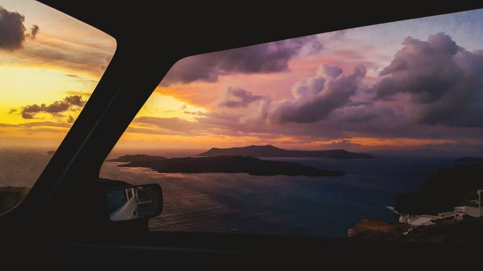 Sunset Dramatic Sky Cloud - Sky Mountain Sea Landscape Sky Beauty In Nature Water No People Outdoors Horizon Over Water Nature Night
