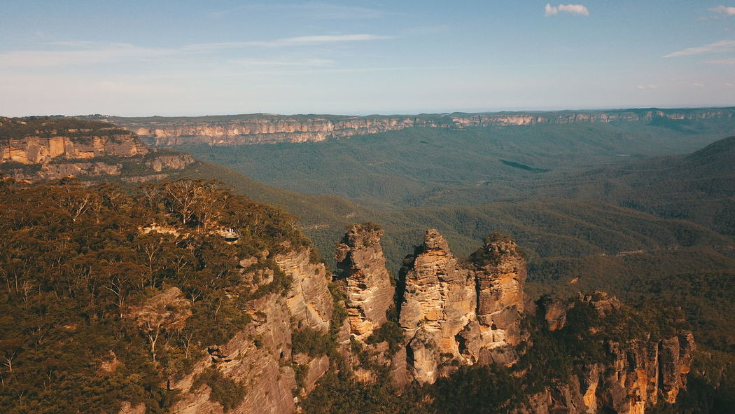 The Three Sisters 😍 Instatravel Travelpic Travelblogger Nature Travelling Dronephotography Travelphotography Drones Traveller Traveler Dronesdaily Travels Dronefly Sightseeing Travelgram Droneoftheday Views Traveling Dronelife Landmark Drone  Dronestagram Travel Sydney Opera House Photo Wanderlust Fromwhereidrone Photography Djiglobal Dji Scenery Travellife Adventure Travelblog Irishman Sydney Sydney, Australia Australia Landscape Beauty In Nature Sky