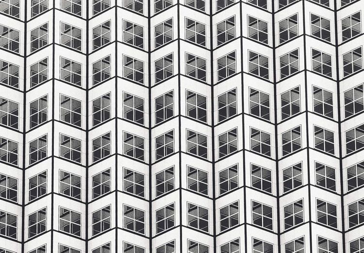 Windows Full Frame Backgrounds Pattern In A Row Repetition Built Structure The Architect - 2018 EyeEm Awards Architecture Building Exterior Geometric Shape Architecture And Art Shape Design