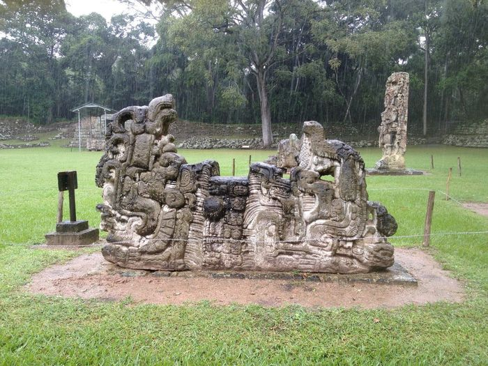 Altar G Main Plaza in Copan Archaelogical Park