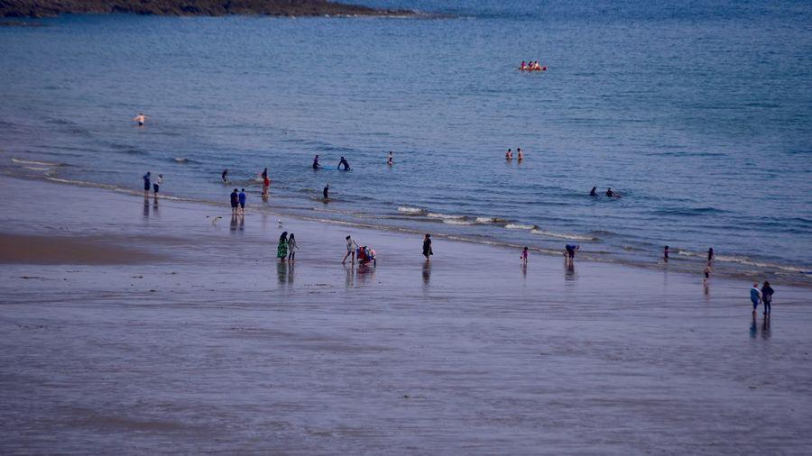 Taking Photos Sandy Beach People Multicultural Seaside Nikon D5500