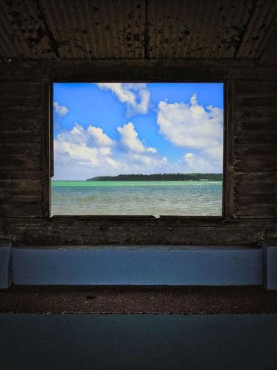 Martnique Paint Beach Beauty In Nature Blue Caribbean Cloud - Sky Day Evasion Frame Horizon Over Water Island Nature No People Outdoors Scenics Sea Sky Water Window Summer Exploratorium