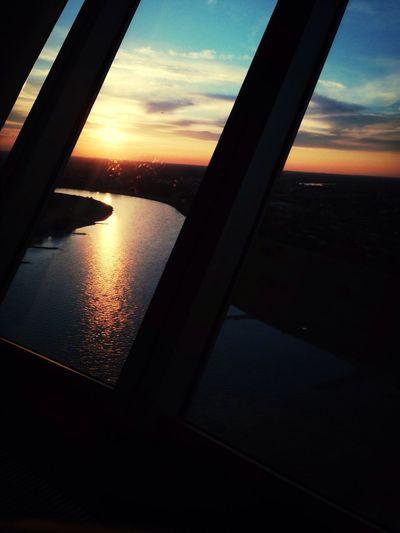 Enjoying The Sun Horizon Panorama Rhein