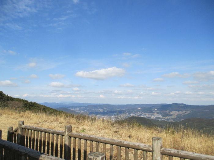 きれいな空 山頂 烏帽子岳