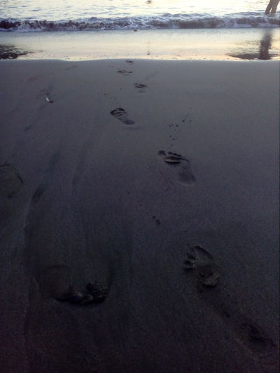 Footsteps Catarindo Arequipa - Peru Peru Water Wave Beach Low Tide Sea Sand Sunset Sand Dune Paw Print FootPrint Go Higher Summer Exploratorium