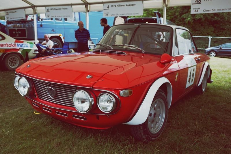 Red Car Transportation Day Outdoors Rally GoodWood Goodwood Festival Of Speed 2017 Fos Classic Cars Lancia