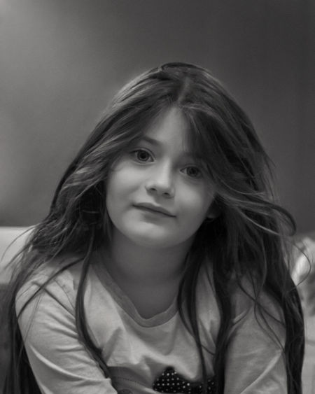 Portrait Child One Person Front View Childhood Hair Looking At Camera Long Hair Real People Innocence
