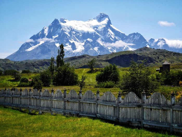 Mountain Grass Built Structure Scenics Nature Tree Beauty In Nature Outdoors Landscape Day Sky No People Patagonia Chile