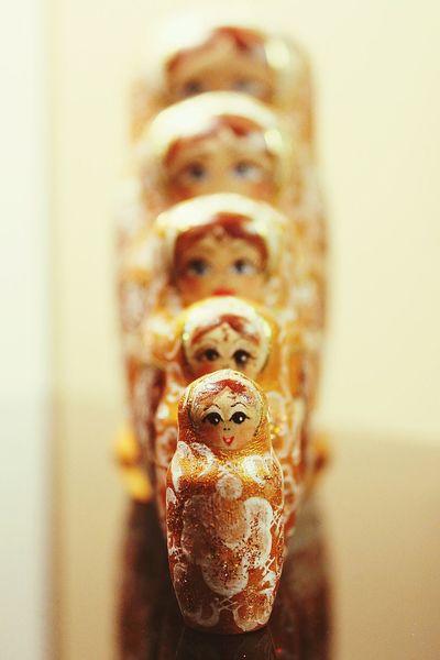 Beautifully Organized Doll Dolls Russiandoll RussianDolls Indoors  Line Up