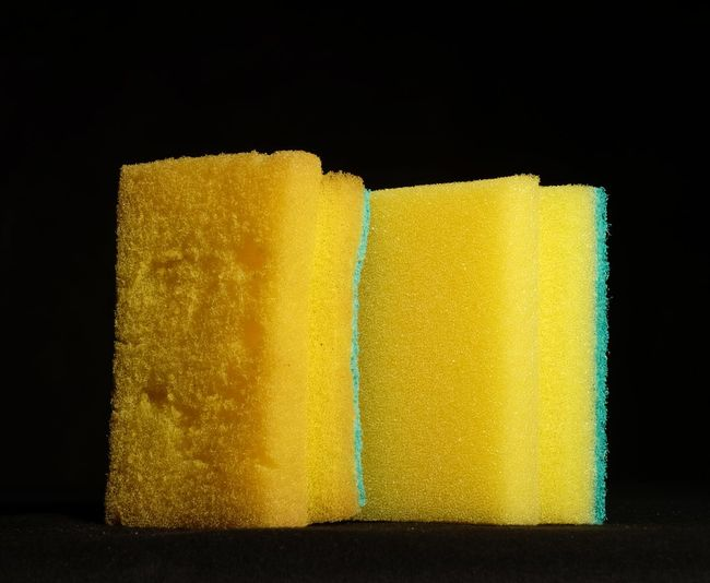 Black Background Cleaning Dishwashing Sponge Foam Group Of Objects No People Object Old And New Rubber Sponge Studio Shot Used And New Washing Yellow Fujifilm Xm1