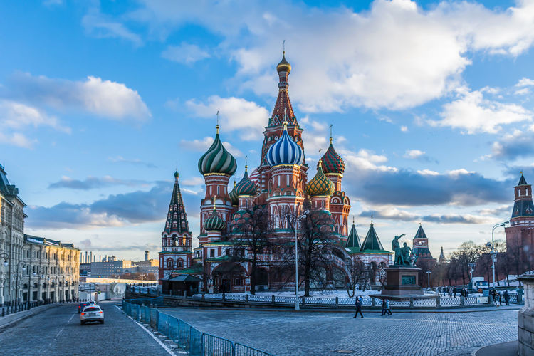 View of saint basil's cathedral against sky