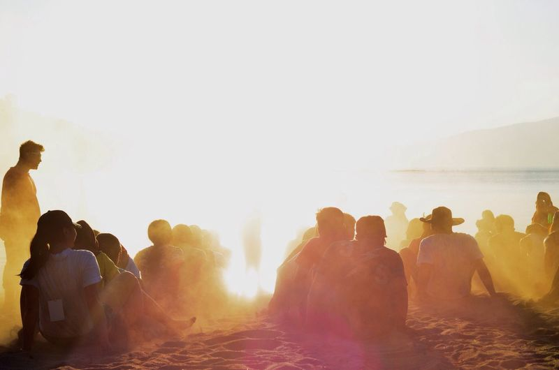 Overexposed. Sunset Light And Shadow Eyeem Philippines Summer Beach Sun Friends Exploring New Ground Golden Hour