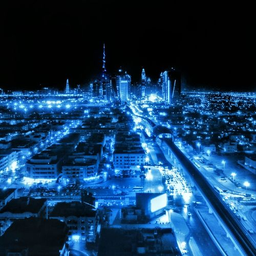 City glow. Dubai. City Lights Night Lights Dubai Cities At Night Cityscapes Monochrome Photography City View  Dubai❤ Nightscape Night View Night Photography Night Glow Nightlife Night Blue My Year My View City At Night City Nightscapes Nightlights The Week On EyeEm Been There.