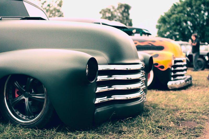Vintage car in grass