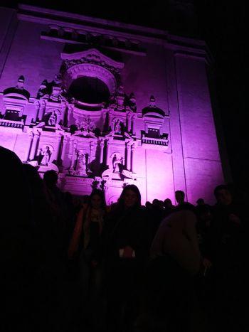 Complicat desconectar Illuminated Night Cathedral Girona Gironamenamora Architecture