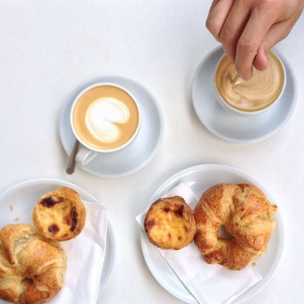 If I only could have these treats right now...yummy! No Filter Cappuccino Baked Goods Coffee Break