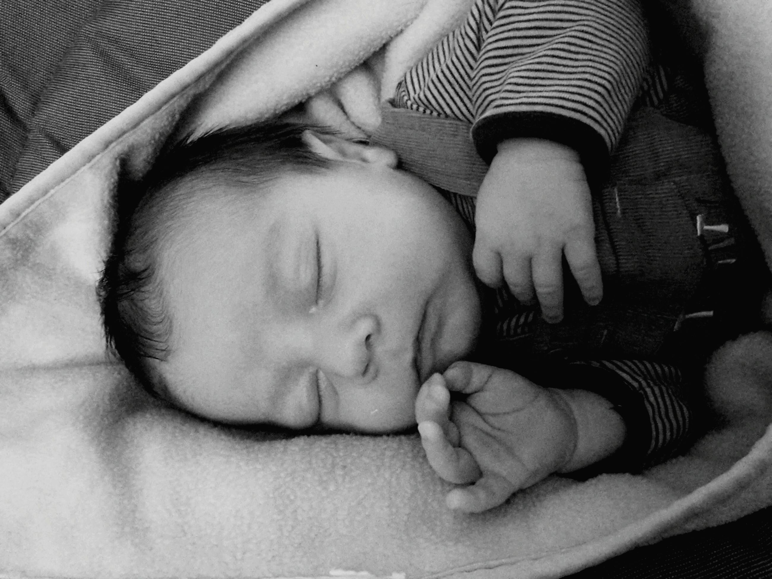 childhood, baby, indoors, innocence, toddler, babyhood, sleeping, unknown gender, relaxation, cute, boys, elementary age, bonding, bed, togetherness, lying down, lifestyles, family with one child