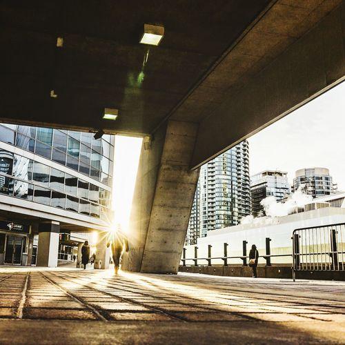 Street Under Bridge In City
