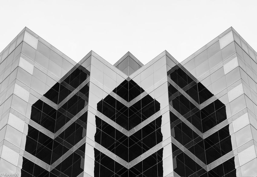 An office building in the Denver Tech Center. Drama Lines Office Reflection Architectural Style Architecture Blackandwhite Building Exterior Built Structure City Clear Sky Day Façade Full Frame Low Angle View Modern No People Office Building Outdoors Sky Window Windows