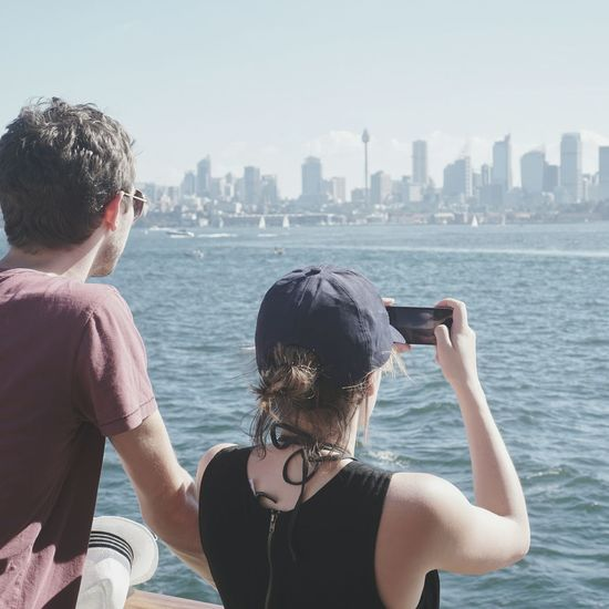 Adults Only Two People Only Women People Adult Young Adult Day Water Rear View Happiness Sea Sky Togetherness Outdoors Cityscape Sightseeing Tourist Visitsydney Ferry Views Ontheferry Cityskyline Cityview