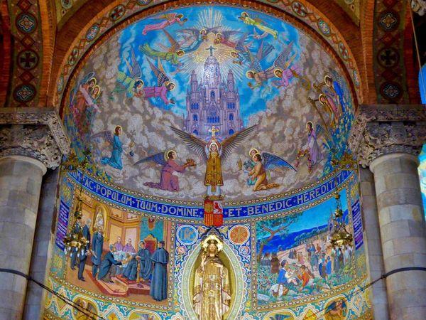 Tibidabo's Church Sagrat Cor Tibidabo Cathedral Tibidabo Cathedral Del Sagrat Cor Religious Art Religion Religious