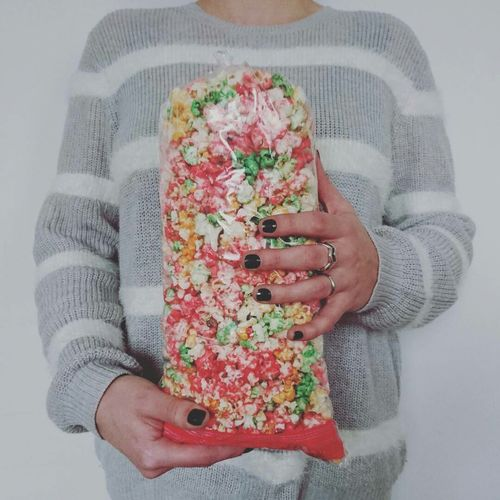 Popcorns Colors Sweet Sweet Food Human Hand One Woman Only One Person Holding Only Women Adult Women Celebration People Lifestyles Studio Shot Indoors  Close-up Standing Winter Portrait One Young Woman Only Young Adult Live For The Story The Portraitist - 2017 EyeEm Awards EyeEmNewHere 10 International Women's Day 2019 My Best Photo