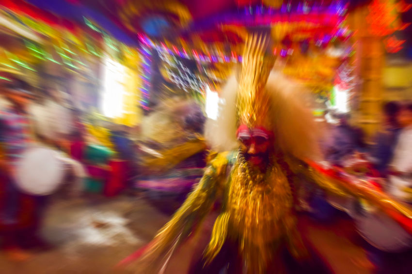 Motion capture Blurred Motion Celebration Arts Culture And Entertainment Traveling Carnival Defocused Motion Night Outdoors Multi Colored Cultures Indian Street Photography Streetphotography Social Event  Music People Streetsofindia Nightlife Party - Social Event Adult Tredition Dance Dance Photography Culture Of India