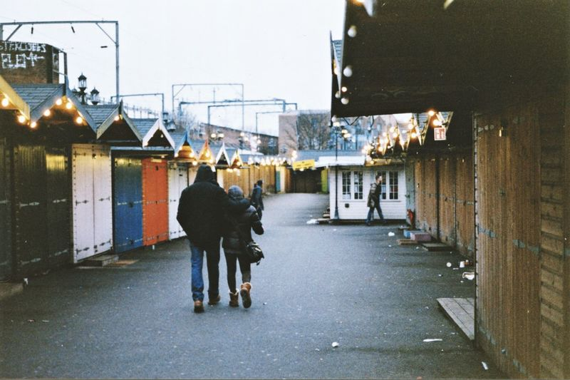 London Love Lover Lovers Couple Winter Outdoors Outdoor Photography Vintage Analogue Photography Analog Full Length City Working Retail  Business Finance And Industry Store Small Business Women Street Market Market Stall For Sale