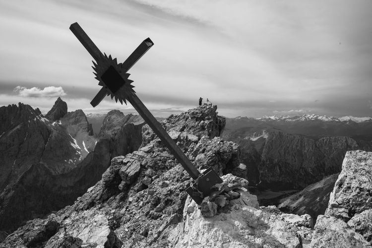 Cross On Mountain Peak