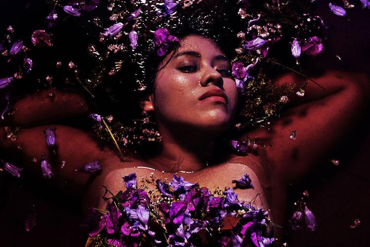 Flores Portrait Mexico EyeEmNewHere Water Flower Purple Plus Size Model Bodypositivity