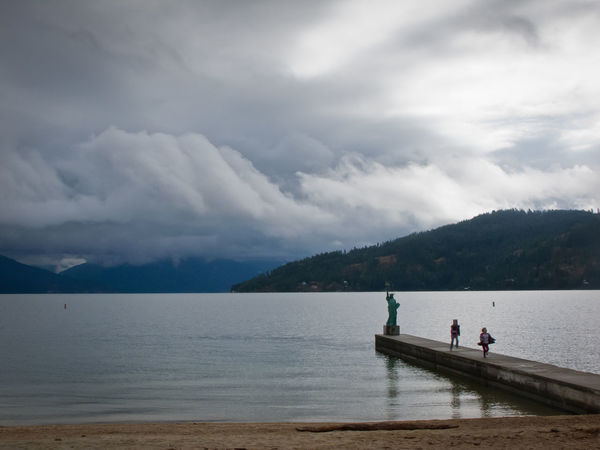 Beauty In Nature Cloud Cloud - Sky Cloudy Day Idaho Idyllic Leisure Activity Lifestyles Medium Group Of People Mountain Mountain Range Nature Non-urban Scene Outdoors Relaxation Sandpoint Scenics Sky Tourism Tourist Tranquil Scene Tranquility Vacations Water