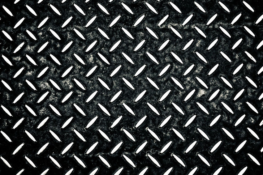 Postcode Postcards Rethink Things Backgrounds Brushed Metal Close-up Day Diamond Plate Full Frame Indoors  Metal Metallic No People Pattern Repetition Seamless Pattern Textured  Black & White Friday