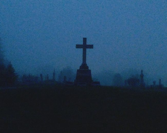Silhouette Religion Tree Dusk Tranquility Tranquil Scene Sky Church Dark Spire  Outdoors Scenics Nature No People Outline