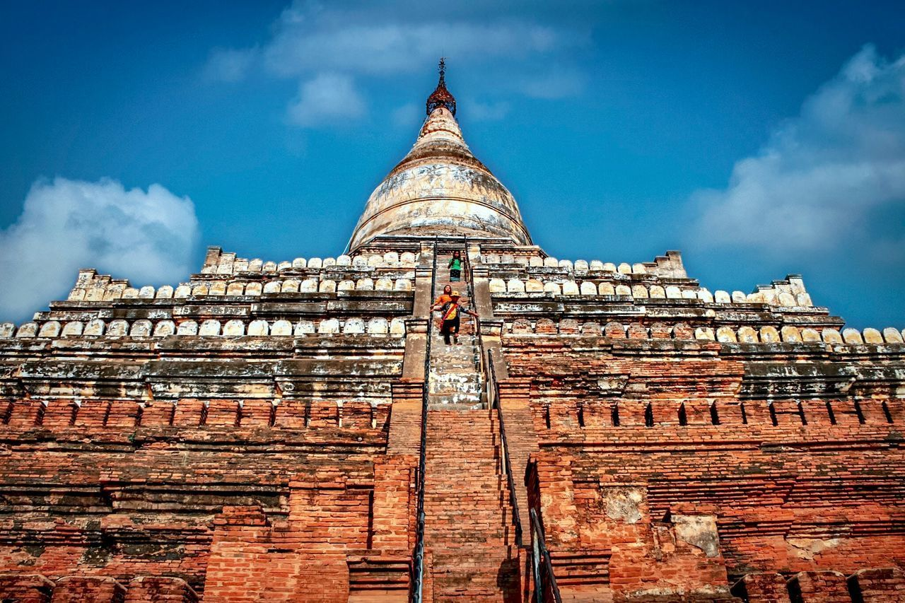 architecture, built structure, sky, cloud - sky, building exterior, low angle view, religion, spirituality, belief, building, place of worship, travel destinations, day, history, nature, travel, the past, tower, no people, outdoors, spire, ancient civilization