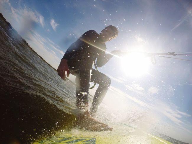 Sunbeam Water Sunlight Sea Sky Summer Lens Flare Nature Sunny Surf Gopro Kite Surfing Kitesurf Kiteboarding Watersports Kiteboard Kite Kitesurfer Kiteboarder Kitesurfing Kitebeach Waveboard Strapless  Wavekiting