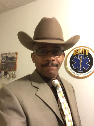 Getting set for Church this day That's Me Emt Cowboy Dressed Up Hi! Me