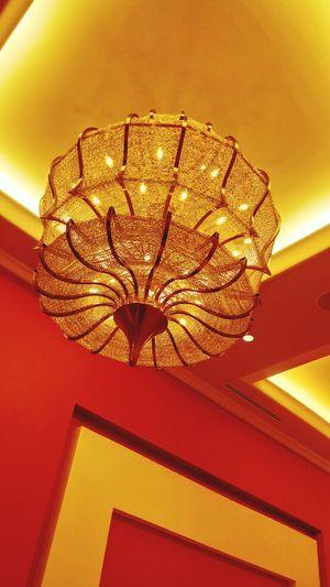Chandelier Red Gold Okada Lights Casinonight One Animal Close-up Animal Themes Day