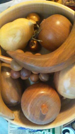 Wood Fruit Wood Fruit Bowl